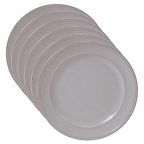 S/6 Misha Dinner Plates, Cream