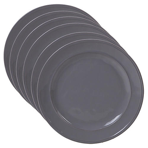 S/6 Misha Dinner Plates, Gray