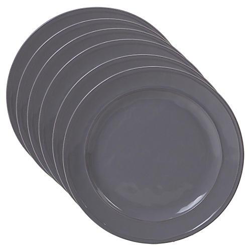 S/6 Misha Dinner Plates, Gray