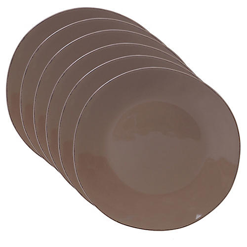 S/6 Salerno Dinner Plates, Taupe