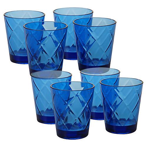 S/8 Drazen Acrylic DOF Glasses, Cobalt