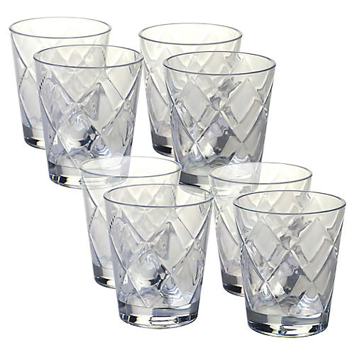 S/8 Drazen Acrylic DOF Glasses, Clear