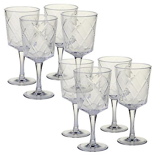 S/8 Drazen Acrylic Goblet Set, Clear