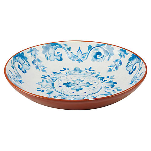 Positano Serving Bowl, Blue/White