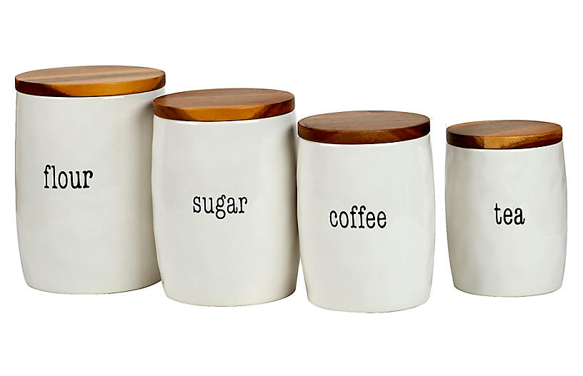S/4 Marini Canisters, White