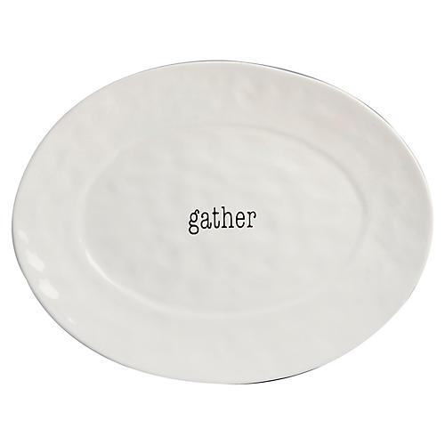 Marini Oval Platter, White