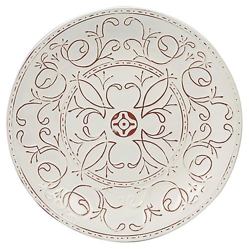 Ravello Round Platter, White