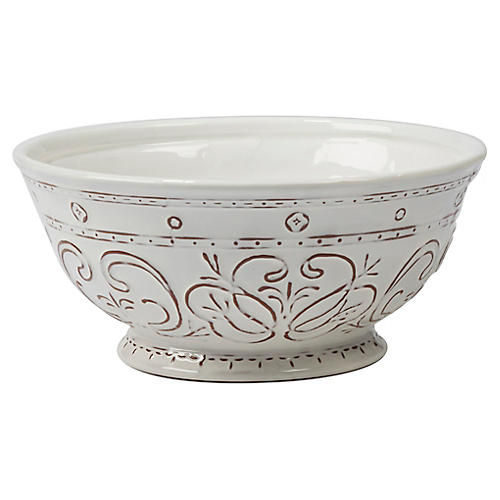 Ravello Deep Serving Bowl, White