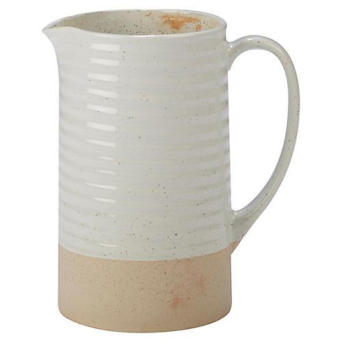 Berkin Pitcher, White/Tan