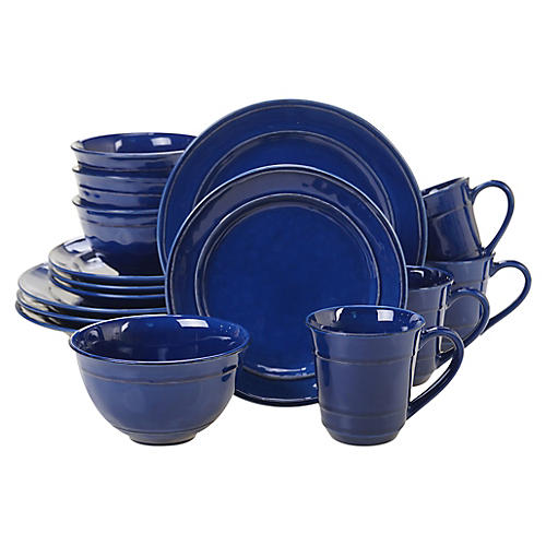 Asst. of 16 Misha Place Setting, Cobalt