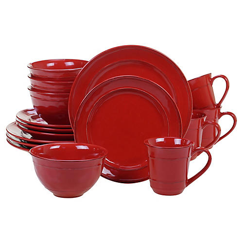Asst. of 16 Misha Place Setting, Red