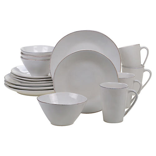 Asst. of 16 Salerno Place Setting, Cream