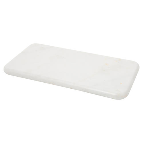 "12"" Kalvin Decorative Tray, White Marble"