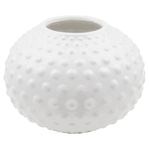 """10"""" Wagner Vase, White"""