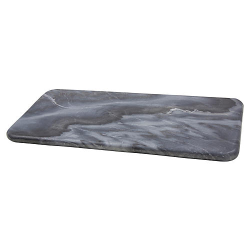 "12"" Kalvin Decorative Tray, Gray Stone"