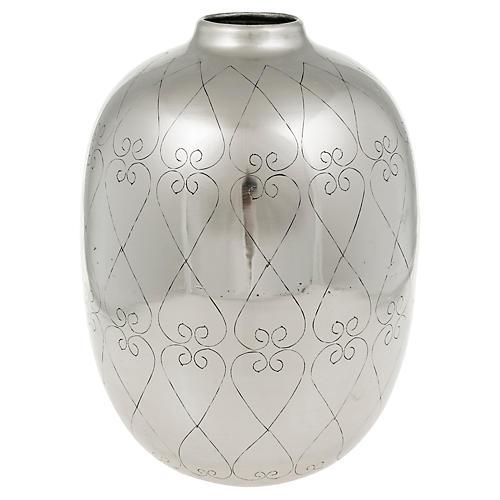 """11"""" Lowe Vase, Silver"""