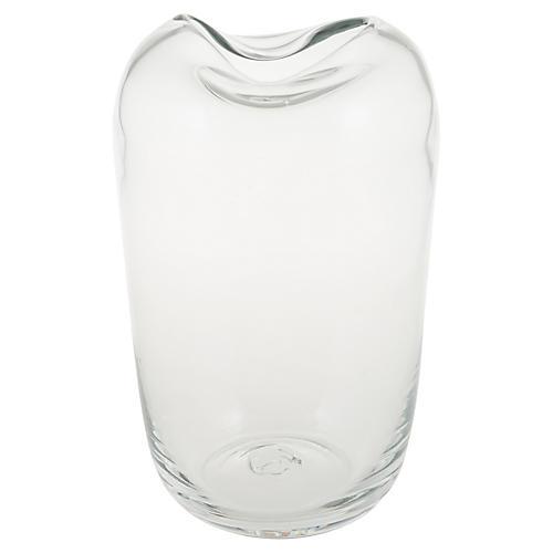 """10"""" Gillian Vase, Clear"""