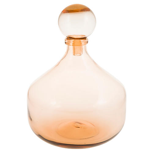 "14"" Croft Decorative Bottle, Amber"