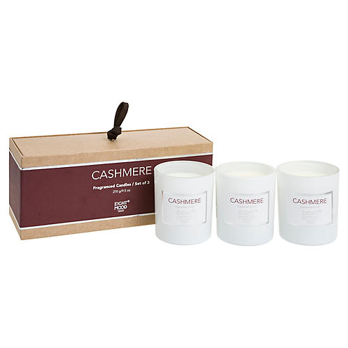 S/3 Pure Candles, Cashmere