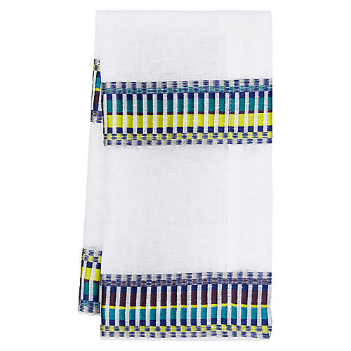 S/4 Sicily Napkins, Blue/Purple