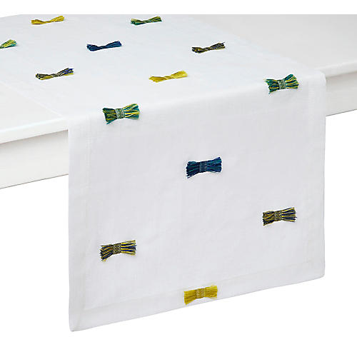 Bora Bora Table Runner, Green/Multi