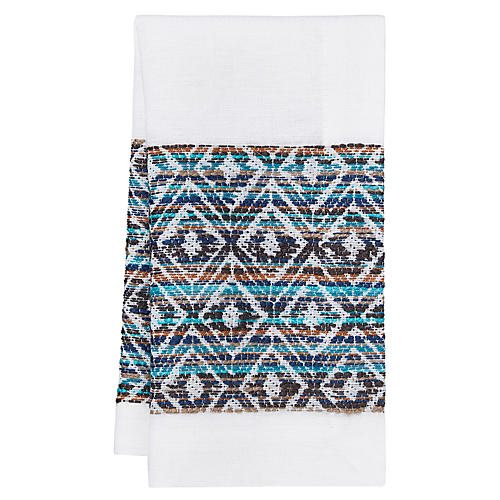 S/4 Cuzco Napkins, Blue/Multi