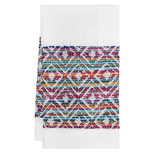 S/4 Cuzco Napkins, Red/Multi