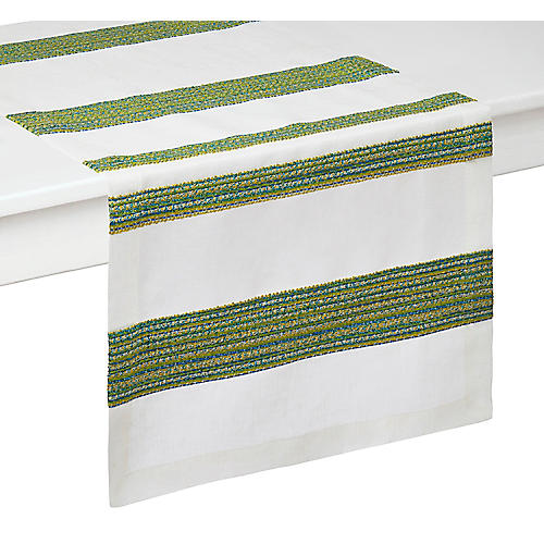 Maya Table Runner, Lime