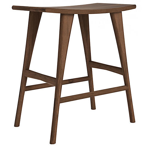 Osso Counter Stool, Walnut