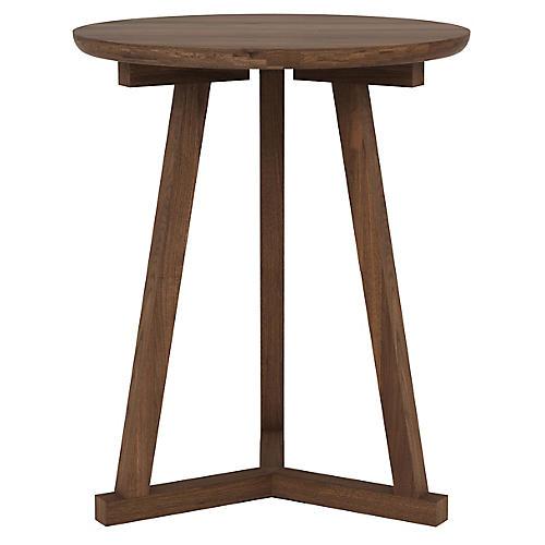 Tripod Side Table, Walnut
