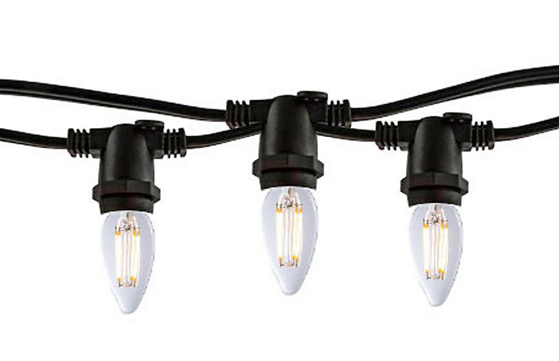 Hugh 10-Pc String Lights, Black