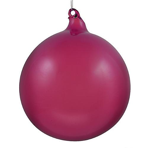 Feliz Ball Ornament, Dark Berry