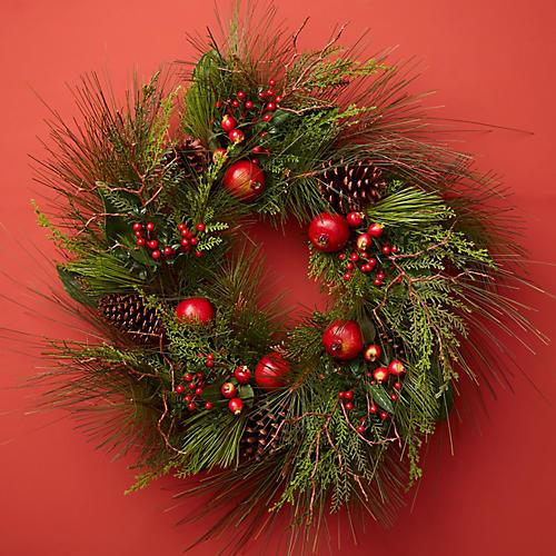 "30"" Festival Wreath, Faux"