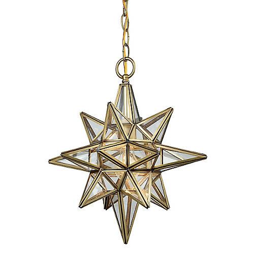 Carlson Star Pendant, Brushed Brass