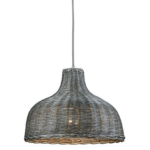 Lanston Wide Pendant, Soft Gray