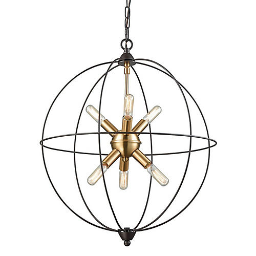Daleo 6-Light Chandelier, Bronze/Brass