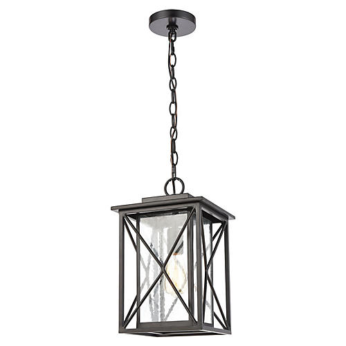 Carriage Outdoor Lantern, Matte Black