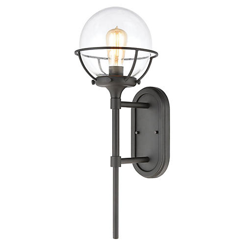Girard Outdoor Sconce, Charcoal