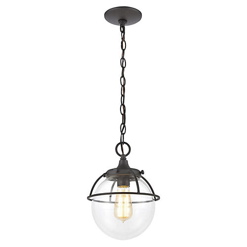 Girard Outdoor Pendant, Charcoal