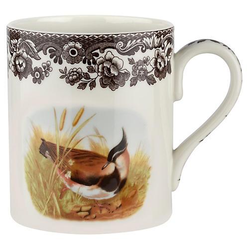 S/4 Lapwing Mugs, White/Brown