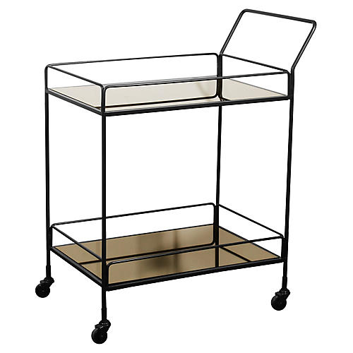 Dixon Bar Cart, Bronze