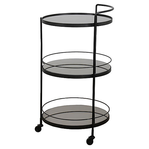 Lucy Bar Cart, Charcoal