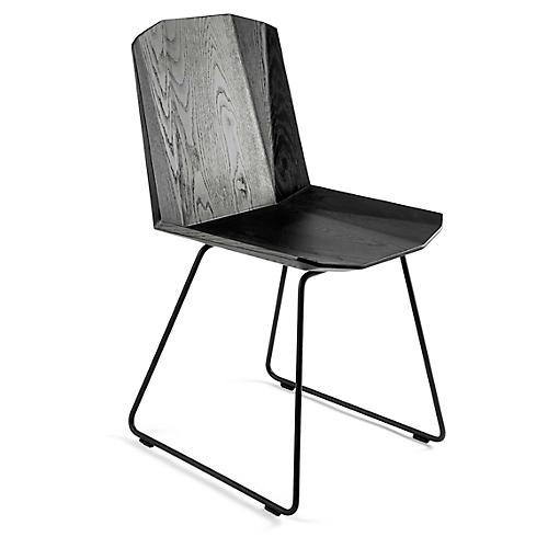 Facette Side Chair, Black