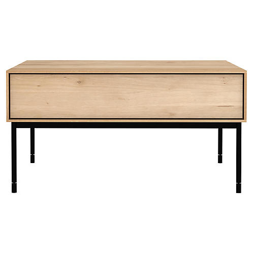 Whitebird Coffee Table, Oak/Black