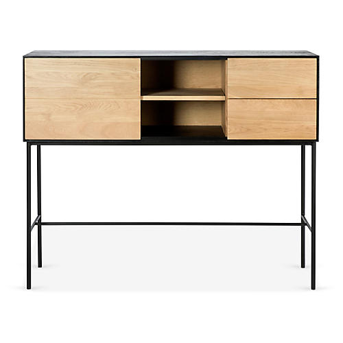 Blackbird Console, Oak/Black