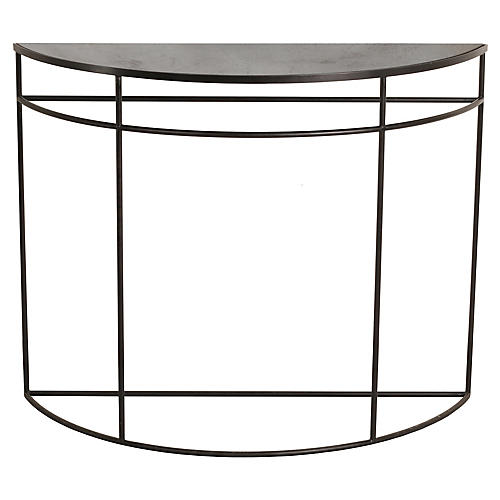 Half Moon Console, Charcoal