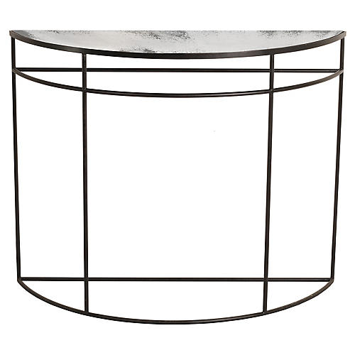 Half Moon Console, Clear