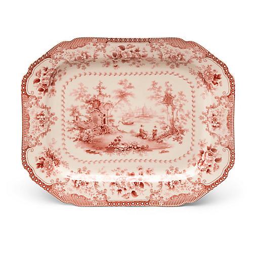 Brooks Platter, Red/Ivory