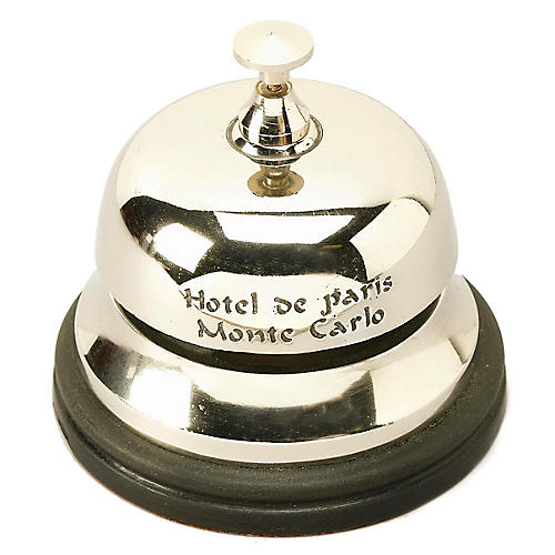 """5"""" Monte Carlo Hotel Bell, Polished Nickel"""