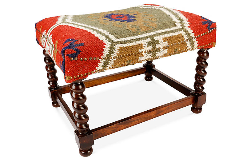 Ciei Stool, Red/Multi